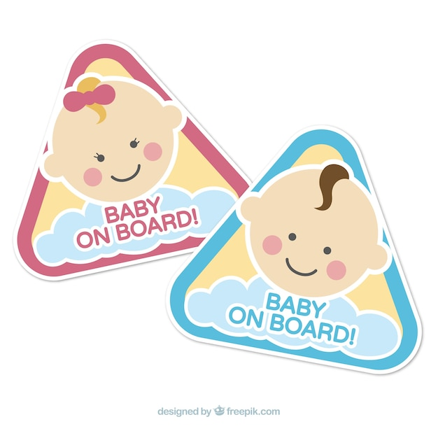 Baby on board signs Free Vector