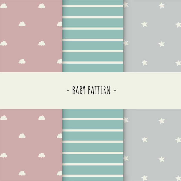 Baby pattern Free Vector