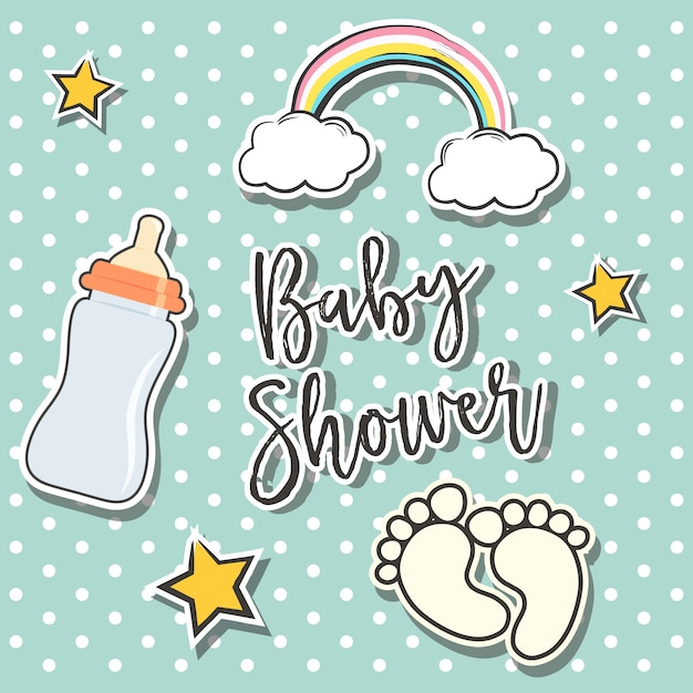 Baby Shower Background Design Free Vector