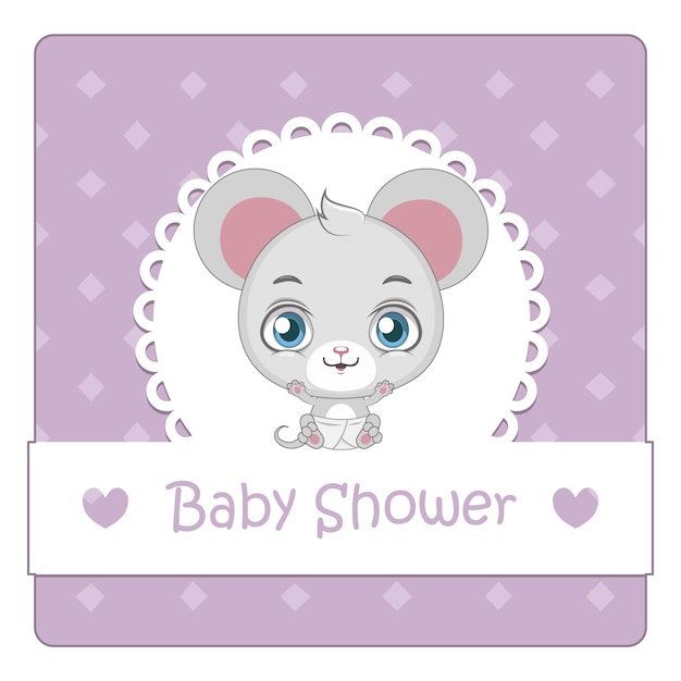Baby shower background with mouse
