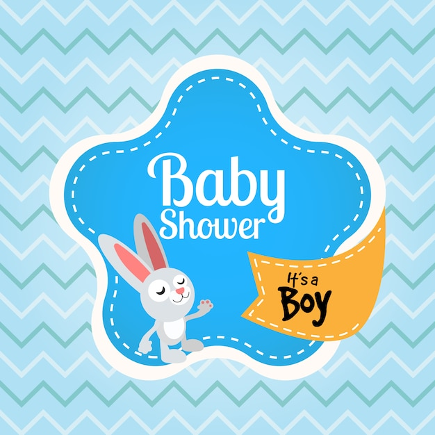Baby Shower Background Premium Vector