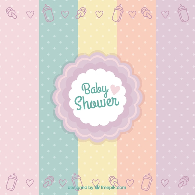 Baby shower badge Vector | Free Download