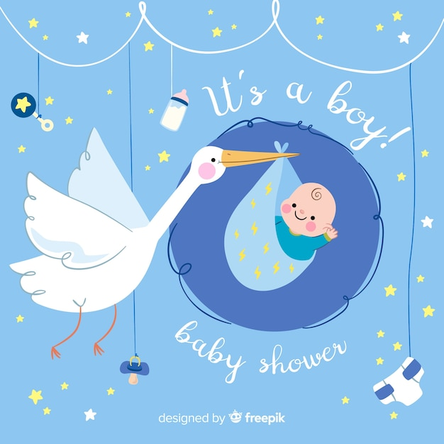 Baby shower banner Free Vector