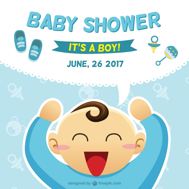 Baby Shower Card With A Boy Illustration Stock Images Page