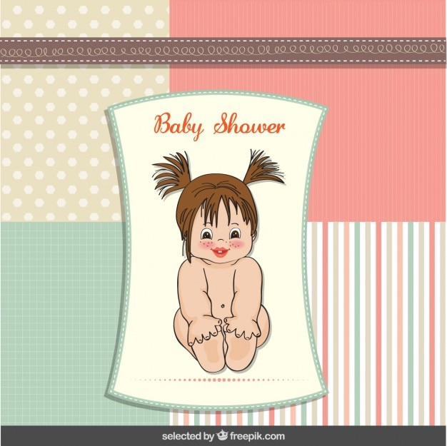 Baby shower card with adorable baby