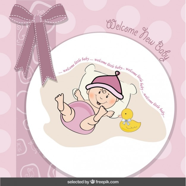 Baby shower card with loop and funny\ baby
