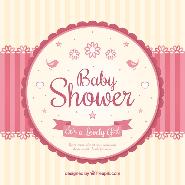 Baby Shower Card With A Mobile Vector Free Download