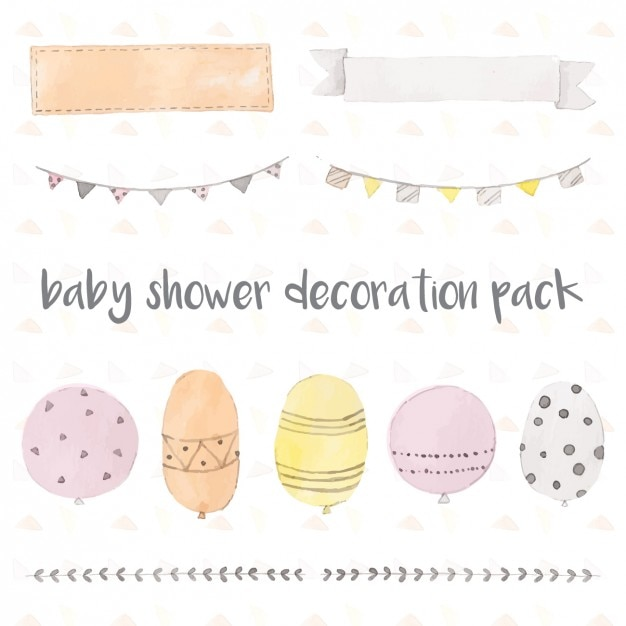 baby shower decoration pack vector free download On baby shower decoration packs