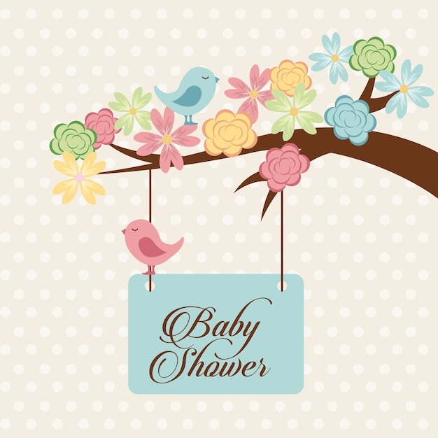 Baby shower design, vector illustration eps10 graphic Premium Vector