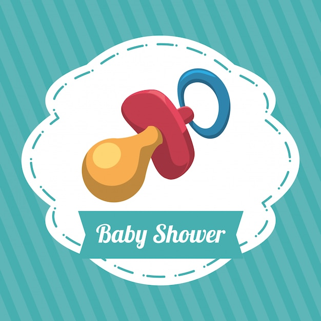 Baby shower design Premium Vector