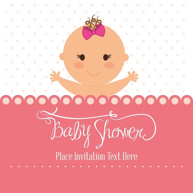 Baby shower design Premium Vector