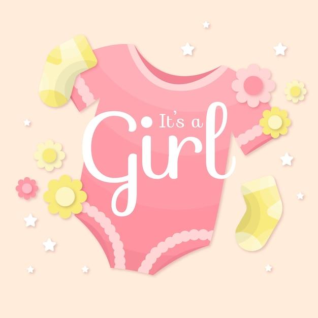 Baby girl stile ragazza Vettore gratuito