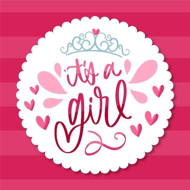 Baby shower girl wallpaper Free Vector