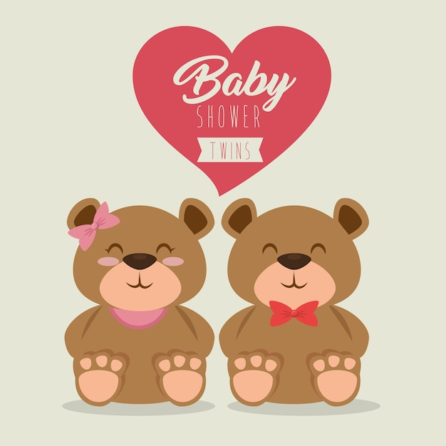 baby shower greeting card vector  premium download