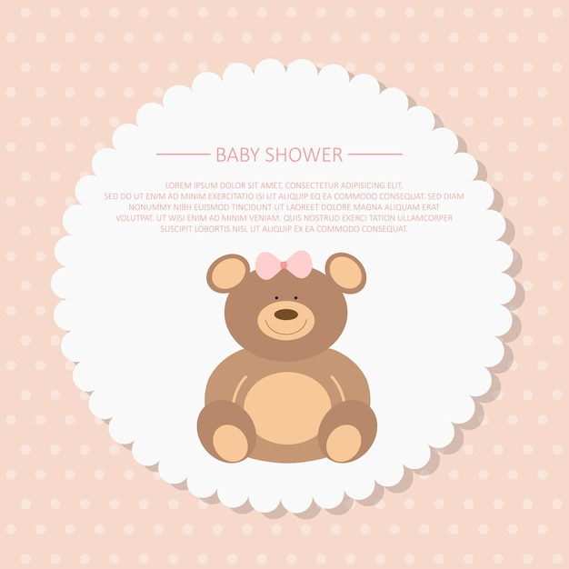 Baby Shower Invitation Card Vector Free Download