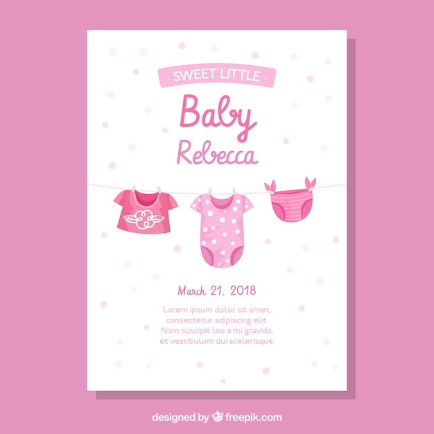 Baby shower invitation in hand drawn style Free Vector