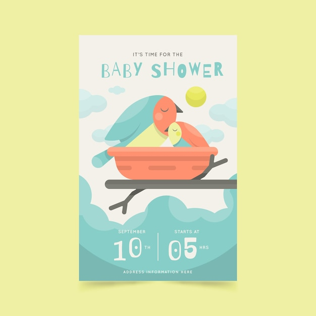 Baby shower invitation style Free Vector