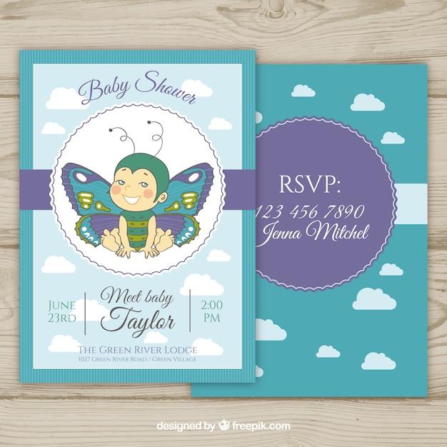 Tarjetas Invitacion Baby Shower Vectors Photos And Psd