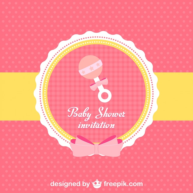Baby shower invitation vector free download baby shower invitation free vector stopboris Images