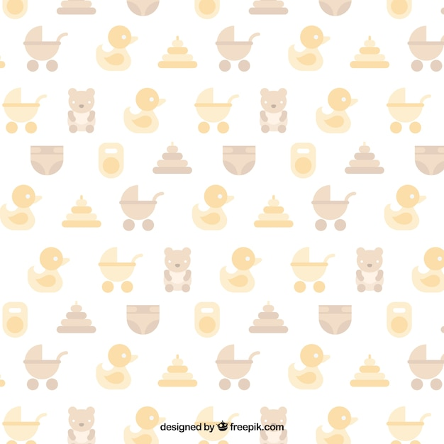 baby shower pattern in pastel colors vector free download