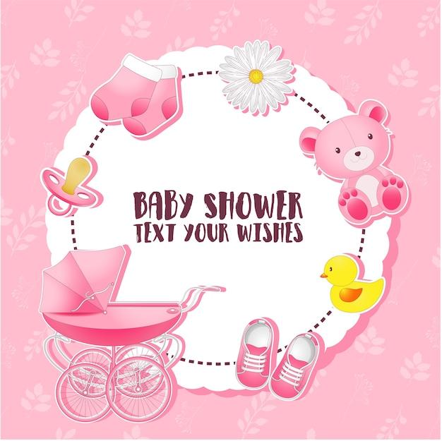 Baby shower set Premium Vector