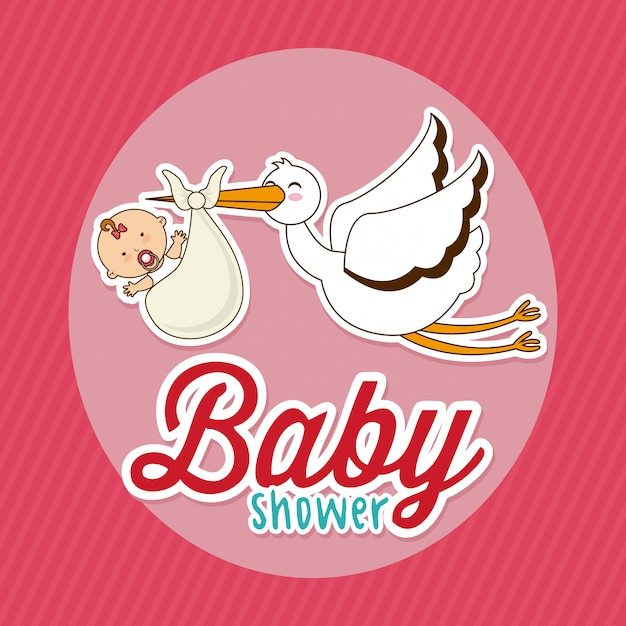 Baby shower simple element Free Vector
