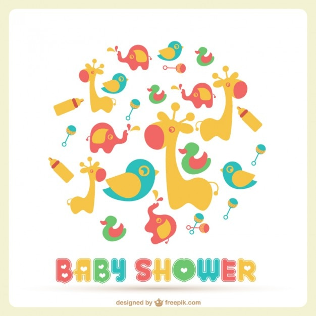 Baby Shower Icon Baby Shower Vector Template
