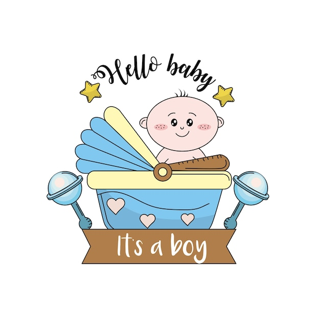 Baby shower to welcome a child in the family Premium Vector