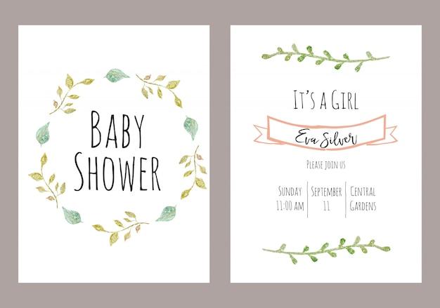 Baby shower Premium Vector