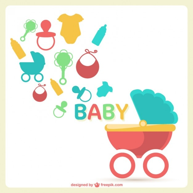 baby shower vector free download