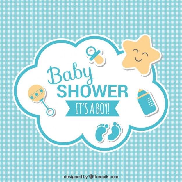 Baby shower карты Бесплатные векторы