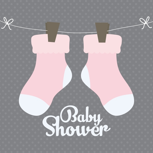 Baby socks clothes cute icon Free Vector