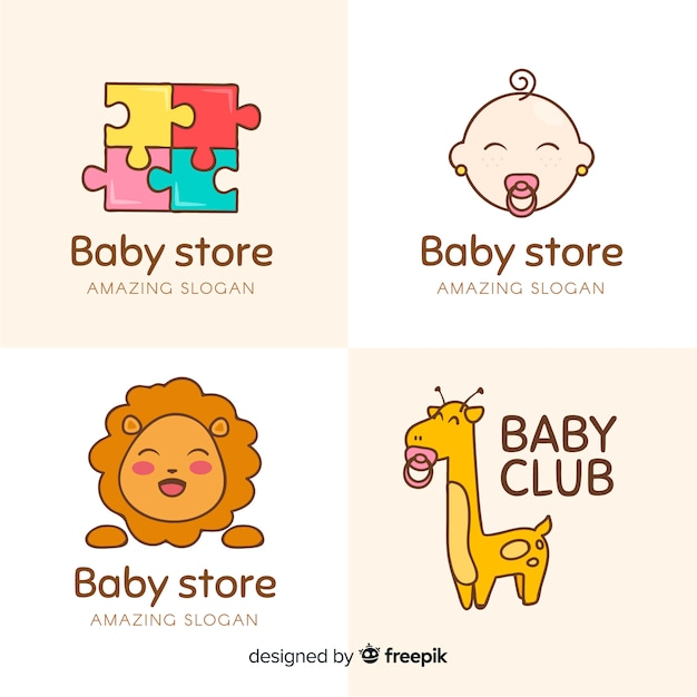 Baby store logo Free Vector