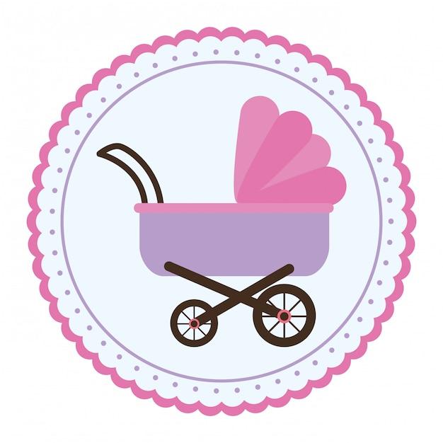 Baby stroller icon Premium Vector