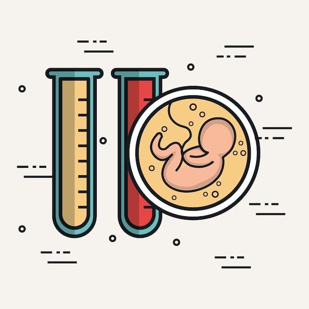 Baby test tubes biology anatomy Premium Vector