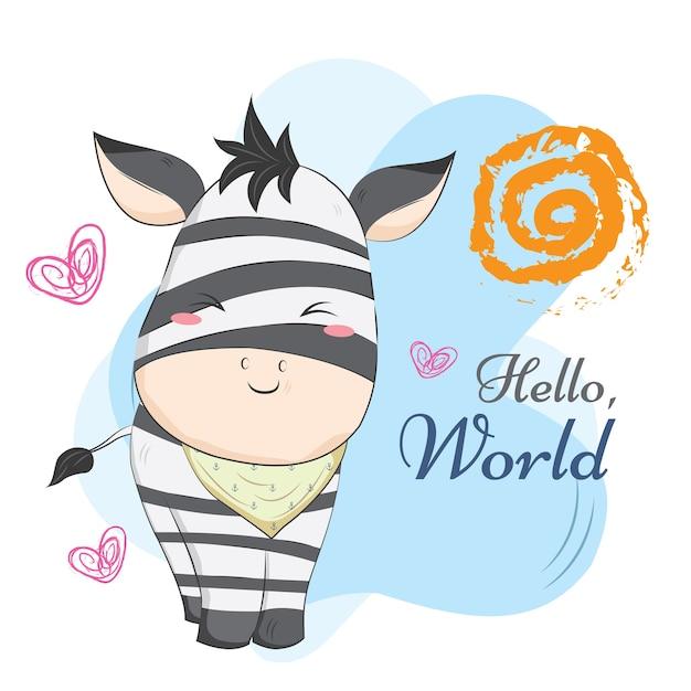 Baby zebra jail motif Premium Vector