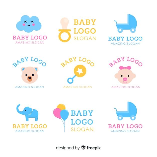 Коллекция логотипов baby Бесплатные векторы