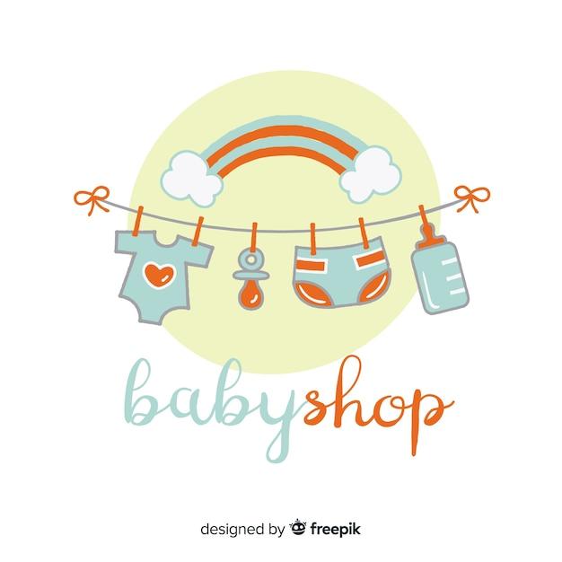 Шаблон логотипа baby Бесплатные векторы