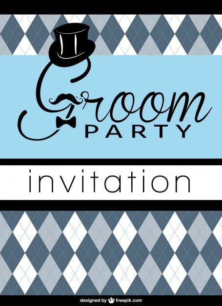Bachelor party invitation Free Vector