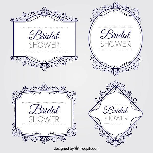 Bachelorette party decorative frames pack Free Vector