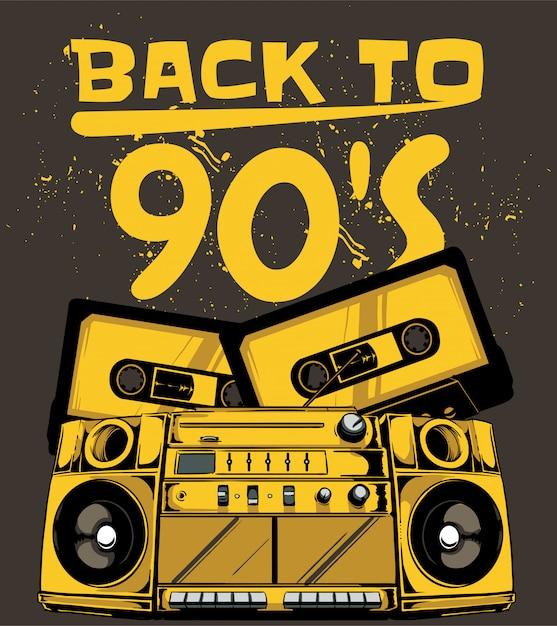 Back to 90 s Premium Vector