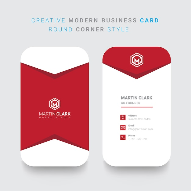 Back and front vertical business card with red details vector back and front vertical business card with red details premium vector reheart Choice Image