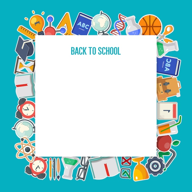 Back to school background concept Premium Vector