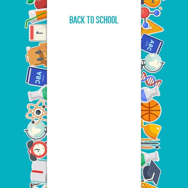 Back to school background concept Premium Vector