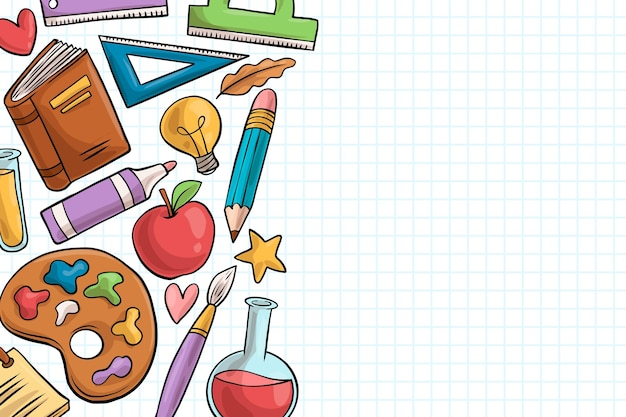 Back to school background design Premium Vector