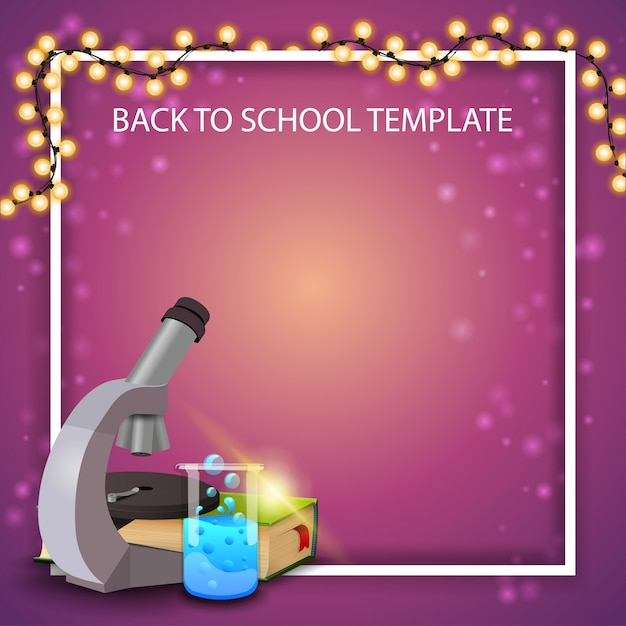 Back to school background frame Premium Vector