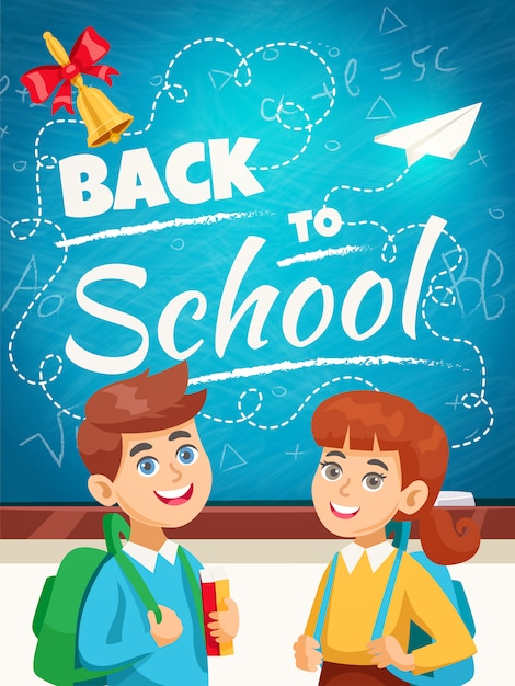 Back to school background poster Free Vector