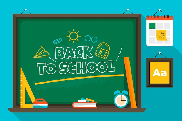 Back to school background theme Premium Vector