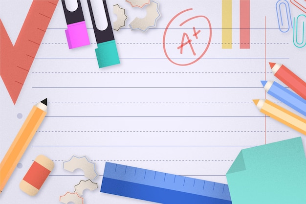 Back to school background theme Free Vector