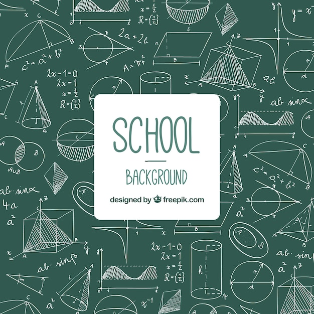Back to school background with blackboard Premium Vector